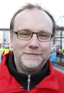 Mathias Venema, Gewerkschaftssekretär im Fachbereich 13 in Hessen