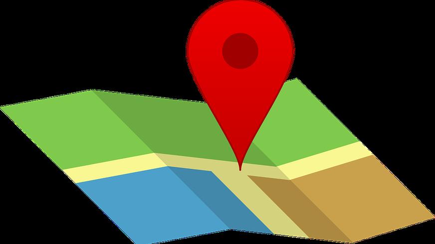 Bild einer Karte