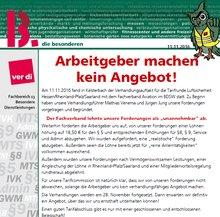 Screenshot: Flugblatt Verhandlungsauftakt