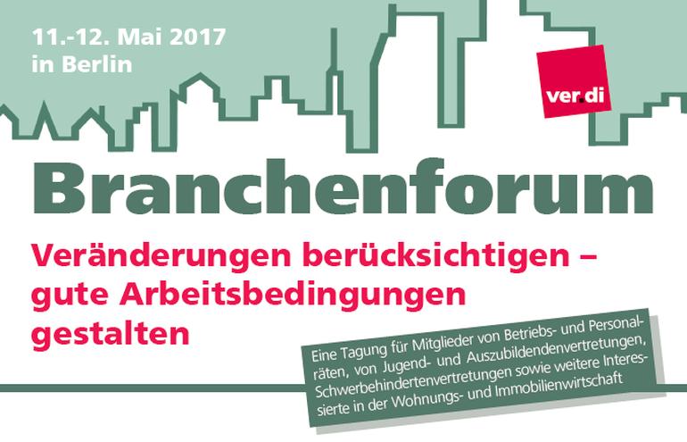 Branchenforum Wohnungswirtschaft 11.-12. Mai 2017