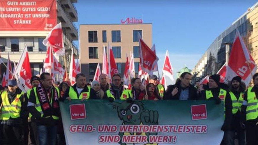 Geld- und Werttransport Streikdemo Nürnberg