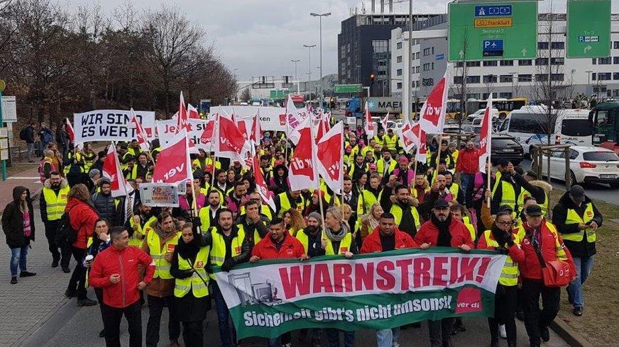 Warnstreik Luftsicherheit Frankfurt 2019